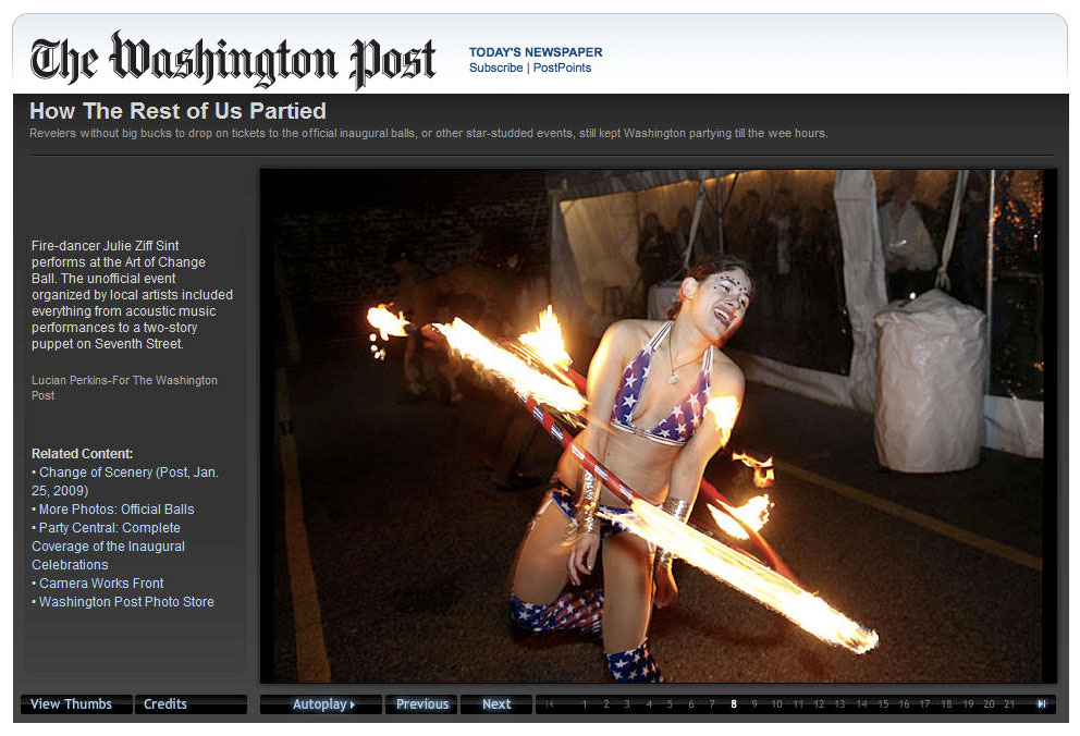 2009 Washington Post Interactive & Inauguration Book